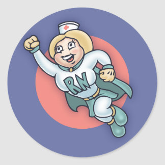 Nightly Nurse! Classic Round Sticker