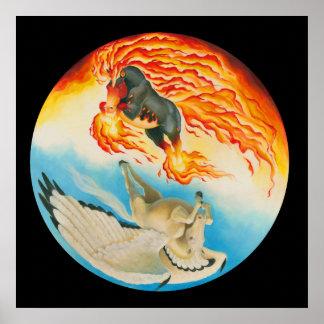 Nightmare and Mesa Pegasus Yin Yang Poster