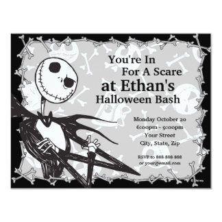 "Nightmare Before Christmas Halloween Party 4.25"" X 5.5"" Invitation Card"