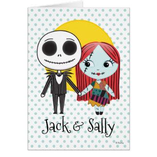 Nightmare Before Christmas   Jack & Sally Emoji Card