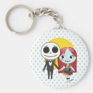 Nightmare Before Christmas | Jack & Sally Emoji Keychain