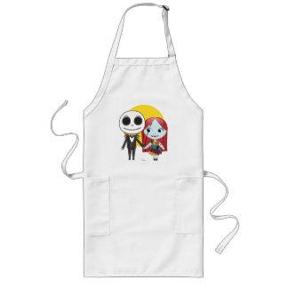 Nightmare Before Christmas | Jack & Sally Emoji Long Apron