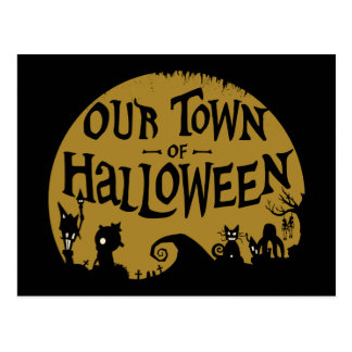 Nightmare Before Christmas | Our Town Of Halloween Postcard