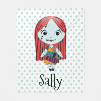 Nightmare Before Christmas | Sally Emoji Fleece Blanket