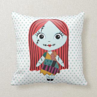 Nightmare Before Christmas | Sally Emoji Throw Pillow