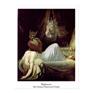 Nightmare By Johann Heinrich Fuseli Postcard