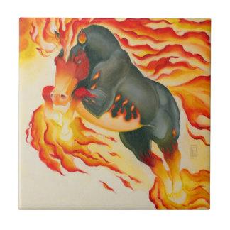Nightmare Fire Horse Tile