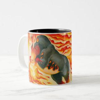 Nightmare Fire Horse Two-Tone Coffee Mug