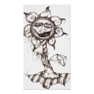 Nightmare Flower Pen & Ink Canvas print