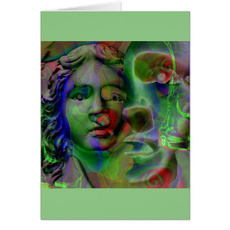 Nightmare (Green) ... Greeting Card