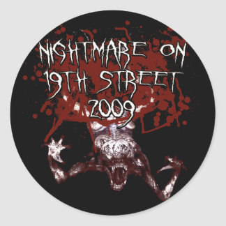 Nightmare on 19th Street 2009 Round Sticker