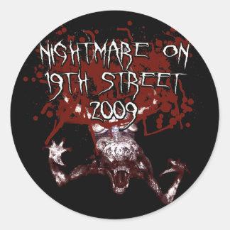 Nightmare on 19th Street 2009 Round Sticker