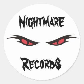 nightmare records logo sticker sheet
