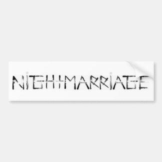 """Nightmarriage"" Knife Font Bumper Sticker"