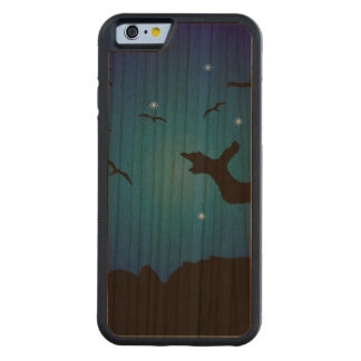 Nightscape Landscape Illustration Carved Cherry iPhone 6 Bumper Case