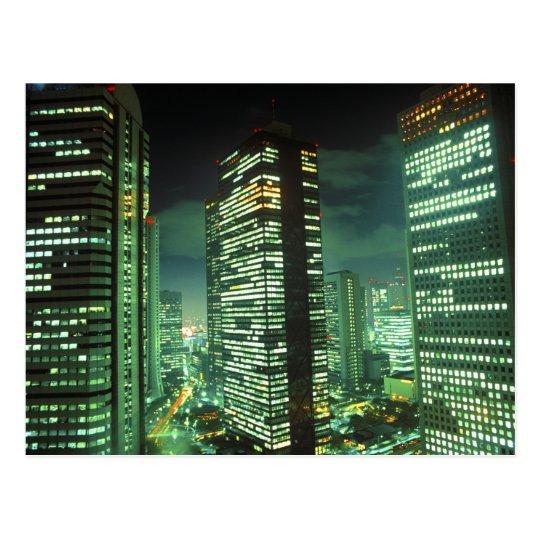 Nightscape, Shinjuku, Tokyo, Japan Postcard