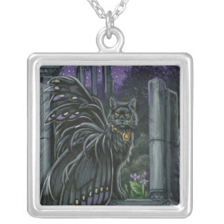Nightshade Black Fairy Cat Necklace