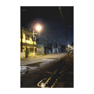 Nighttime Back Streets Downtown Kingston Jamaica Canvas Print