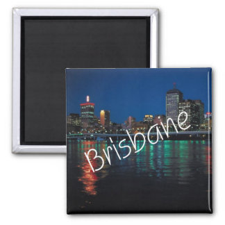 Nighttime Brisbane Australia Fridge Magnet