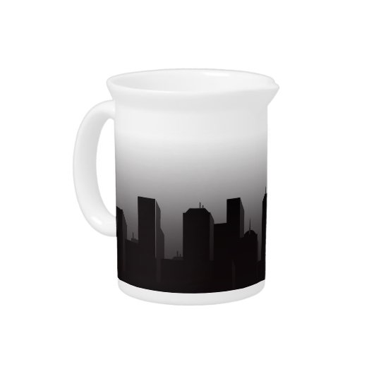 Nighttime Cityscape 19 oz Porcelain Pitcher