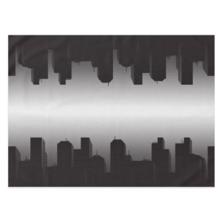 "Nighttime Cityscape Cotton 52""x70"" Tablecloth"