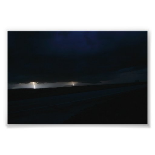Nighttime Double Lightning Strike Photo