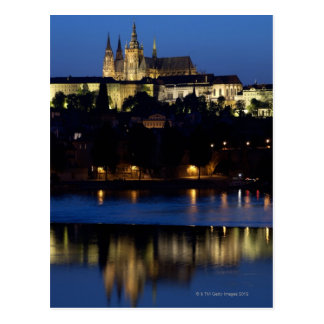 Nighttime in Prague, Czech Republic Postcard