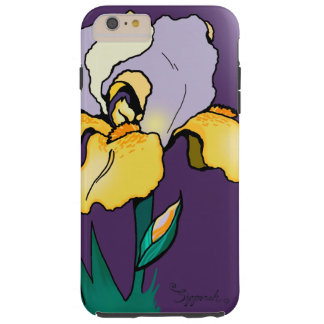 Nighttime Iris Cute Floral Tough iPhone 6 Plus Case