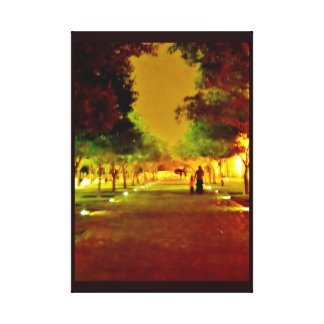 Nighttime Stroll Canvas Print