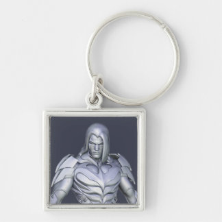 Nightwing Alternate Silver-Colored Square Keychain