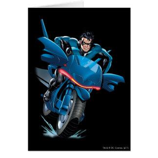 Nightwing rides bike card