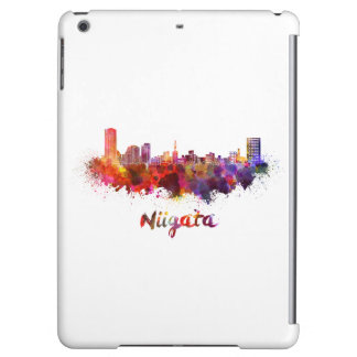 Niigata skyline in watercolor iPad air cases
