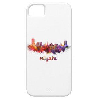 Niigata skyline in watercolor iPhone 5 cover
