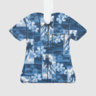 Niihau Island Hawaiian Plumeria Aloha Shirt Ornament