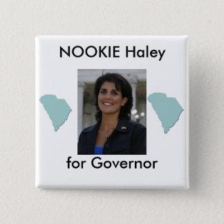 nikki, southcarolina, southcarolina, NOOKIE Hal... 2 Inch Square Button