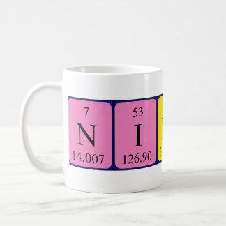 Nikola periodic table name mug