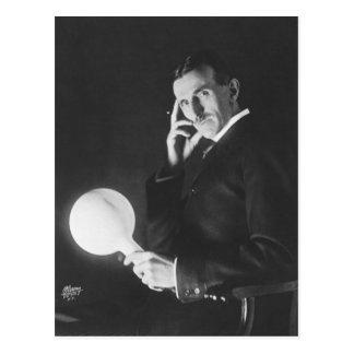 Nikola Tesla, 1898. Postcard