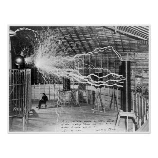 Nikola Tesla, 1899. High Resolution Poster