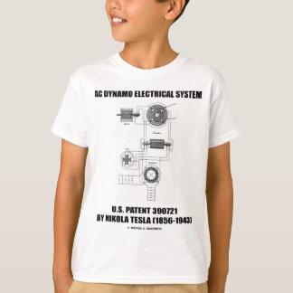 Nikola Tesla AC Dynamo Electrical System Patent T-Shirt