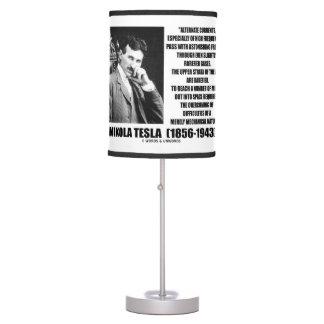 Nikola Tesla Alternate Currents Mechanical Nature Table Lamp