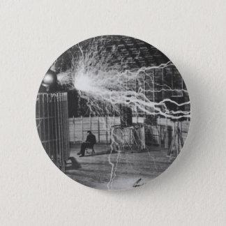 Nikola Tesla at his Colorado Springs Lab, 1899 2 Inch Round Button