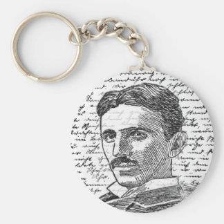 Nikola Tesla Basic Round Button Keychain
