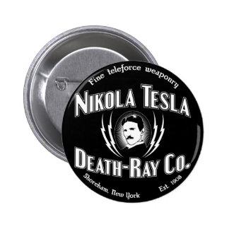 Nikola Tesla Death-Ray Co. 2 Inch Round Button