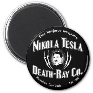 Nikola Tesla Death-Ray Co. 2 Inch Round Magnet
