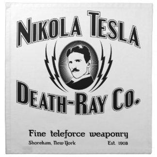 Nikola Tesla Death-Ray  Co. Cloth Napkin