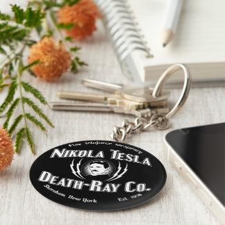 Nikola Tesla Death-Ray Co. Keychain