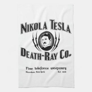 Nikola Tesla Death-Ray Co. Kitchen Towels