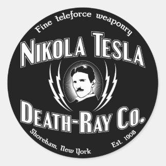 Nikola Tesla Death-Ray Co. Round Sticker