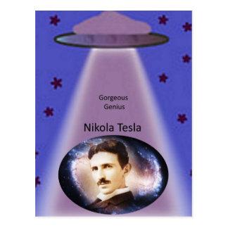 Nikola Tesla Genius Post Card