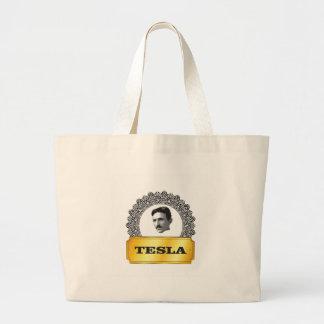nikola tesla gold large tote bag